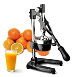 TrueCraftware Commercial Citrus Juicer Hand Press - Manual Juicer Extractor - Fruit Juice Press - Heavy Duty Cast Iron Citrus & Orange Juicer - Citrus Squeezer for Lemons, Limes and Oranges etc