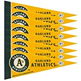 Oakland Athletics Official MLB 4 inch x 9 inch Mini Pennants by Rico Industries
