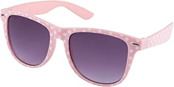 """SIX """"Trend Retro Sonnenbrille in rosa mit weißen Polkadots (324-243)"""