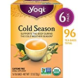 Yogi Tea, Cold Season, 16 Count (Pack of 6), Packaging May Vary