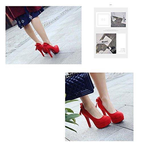 da casual con tacco di di sposa da scarpe profonda arco da poco Rosso da salto Scarpe a sposa piattaforma forma bocca Scarpe d4FAqXand