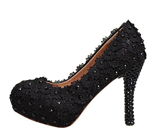Minitoo , Semelle compensée femme Noir - Black-12cm Heel
