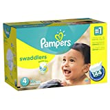 Pampers Swaddlers Disposable Baby Diapers Size 4, Economy Pack Plus, 144 Count (Packaging May Vary)