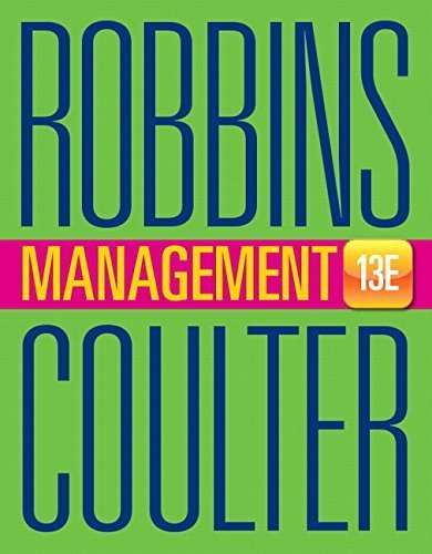 By Stephen P. Robbins - Management (13th Edition) (13th Edition) (2015-01-18) [Hardcover]