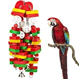 MEWTOGO Large Bird Parrot Toys for Cockatoos African Grey Macaws