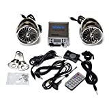 250 Watt 2.1ch All Waterproof Motorcycle Audio System Fm Radio Bluetooth Subwoofer Output (Chrome)