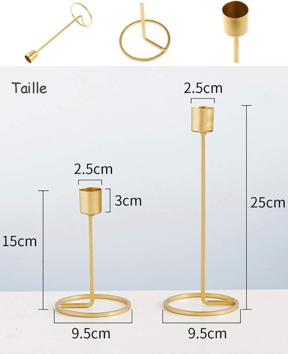 fer Kentop Bougeoir en m/étal pour c/ône Dor/é D/écoration de table moderne Coeur Mariage Bougeoir s or