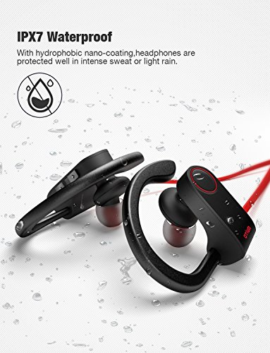 Bluetooth Headphones, Otium Best Wireless Sports Earphones w/Mic IPX7 Waterproof HD Stereo Sweatproof In Ear Earbuds for Gym Running Workout 8 Hour Battery Noise Cancelling Headsets by Otium (Image #3)
