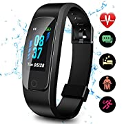 #LightningDeal Updated 2019 Version High-End Fitness Tracker HR, High-End Activity Trackers Health Exercise Watch with Heart Rate Sleep Monitor, Smart Band Calorie Step Counter, Pedometer Walking for Men Women Kids