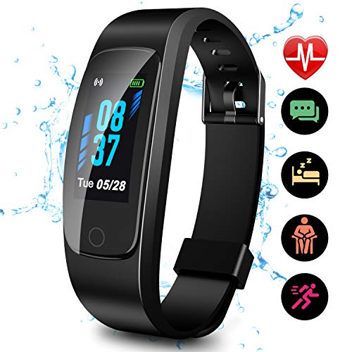 Updated 2019 Version High-End Fitness Tracker HR, High-End Activity Trackers Health Exercise Watch with Heart Rate Sleep Monitor, Smart Band Calorie Step Counter, Pedometer Walking for Men Women Kids (Best Wearable Tech 2019)