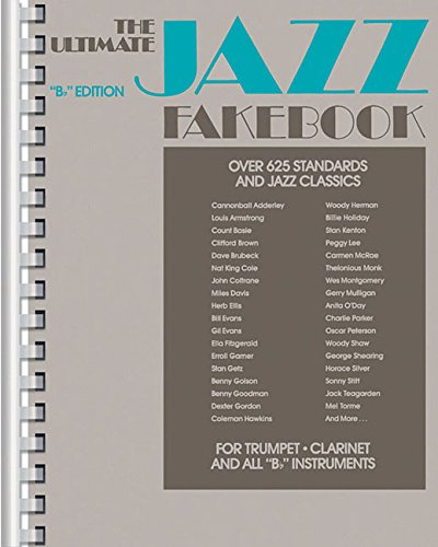 B-flat Music Trumpet Book - Ultimate Jazz Fake Book : B Flat/No 240080