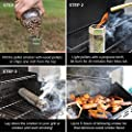 """All Durable Pellet Smoker Tube 12"""" Hexagon Stainless Steel + Brush - Works on Any Grill or Smoker, Gas, Electric or Charcoal - Up to 5 Hours of Billowing Smoke - Adds Delicious Wood Smoke Flavor"""