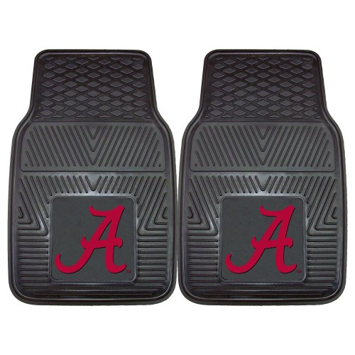 Alabama Car Accessories (FANMATS NCAA University of Alabama Crimson Tide Vinyl Heavy Duty Car Mat ( set of two)