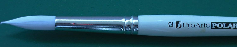 Pro Arte Polar Series 31 Individual White Nylon Round Brush - Size 00