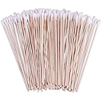500 Count Cotton Swabs 6 inch with Wood Stick Disposable Cotton Tipped Applicator for Makeup Cleaning