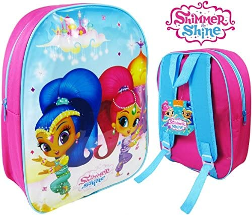 Large Pink Shimmer and Shine 1023AHV-7427 Arch Backpack with Adjustable Straps 41 cm
