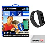 Rebelite XFIT Wireless Bluetooth Activity Fitness Tracker Watch with 5 on Screen Display Modes (Black)