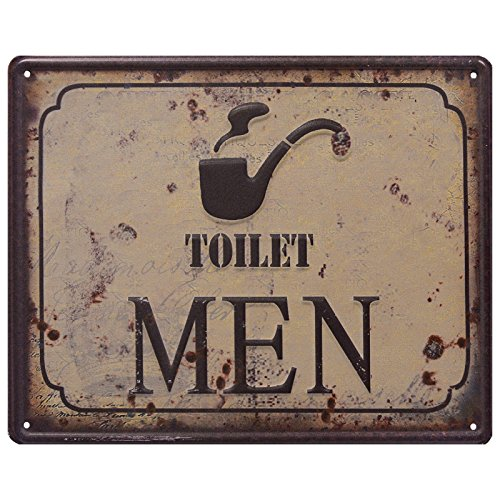 2 WC carteles Toilet Women & Toilet Men Retro Chapa 3d Baños Cartel