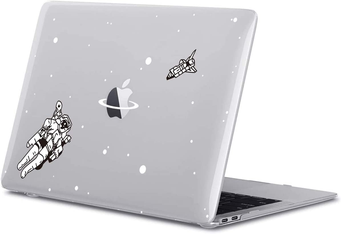 GoldSwift Cool Space Astronaut Matte Rubberized Hard Shell Laptop Clear Case Cover for MacBook Pro 13 Inch 2020 Model Number A2251/A2289/A2159/A1989/A1708/A1706