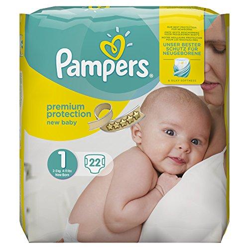 Pampers Nieuwe Baby Maat 1, 22 Luiers, 2-5 kg