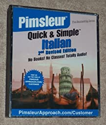 Pimsleur ~ Quick & Simple Italian ~ (4) CD Set ~ (2nd Revised Edition)