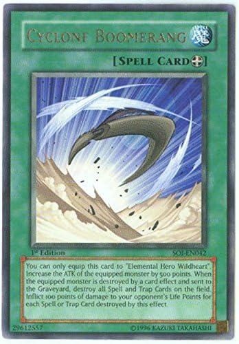 Cyclone Boomerang SOI-EN042 Yu-Gi-Oh Rare Card 1st Edition New
