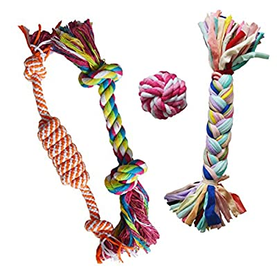 Puppy Chew Teething Rope Toy Small Set Mini Dental Pack from Activpet
