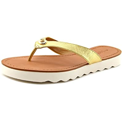 98201b07e774 Coach Shelly Women Open Toe Leather Flip Flop Sandal