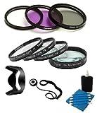SAVEoN 58mm Filter Kit For Fuji FujiFilm FinePix HS20 EXR, HS30EXR, HS30 EXR, HS25EXR, HS25 EXR Digital Camera Includes Multi-Coated 3 PC Filter Kit (UV, CPL, FLD) + Close Up Kit +1 +2 +4 +10 + Lens Hood + Lens Cap Keeper + Camera Cleaning Kit