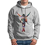Bekey Men's King Of Pop Michael Pullover Hoodie Sweatshirt XXL Ash