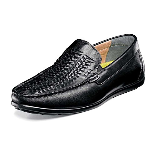 Mens Florsheim Slip Black Draft Woven On Driver rRqcT0qHd