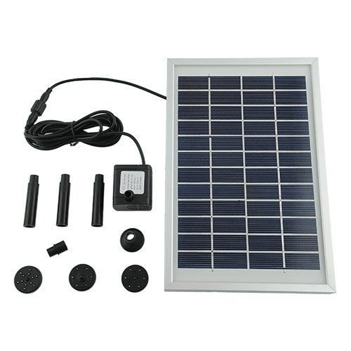 MVPOWER 500L/H 5W Solar Water Pump for Fountain Pool Garden Pond Square