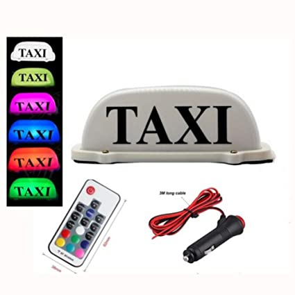Amazon.com: PanDaDa Mando a distancia 7 Color LED coche Taxi ...