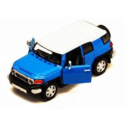 Toyota FJ Cruiser SUV, Blue - Kinsmart 5343D - 1/36 Scale Diecast Model Toy Car, but NO Box: Toys & Games