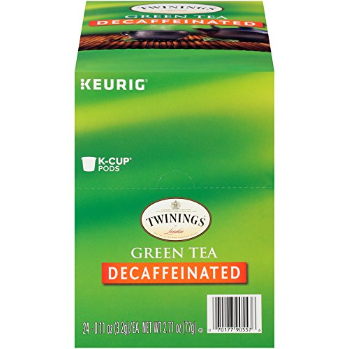 TWININGS Green Tea Decaffeinated K-Cup, 24 count