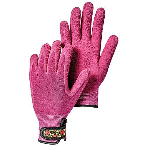 Hestra Work Gloves: Womens Bamboo Garden Gloves, Fuchsia, 7