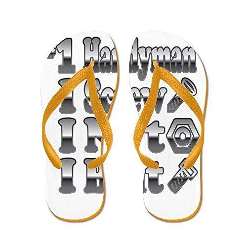 ber 1 Handyman I Screw Nut Bolt Orange Rubber Flip Flops Sandals 11.5-13 (Sandal Nut)