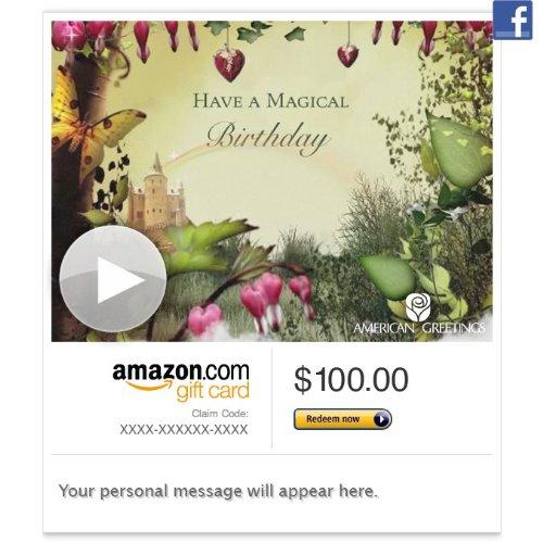 Amazon Gift Card - Facebook - Magical Fairy Birthday
