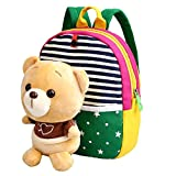 MATMO 3D Cute Cartoon Little Plush Baby Backpack