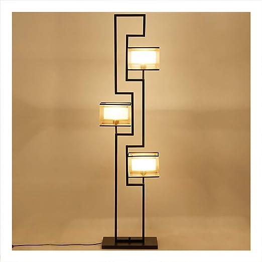 YliJkeT Lámparas de pie Lámpara de pie LED, Sala de Estar Moderna y Moderna Estudio con Soporte, lámpara Vertical, lámpara de pie de Estilo Oriental Antiguo: Amazon.es: Hogar