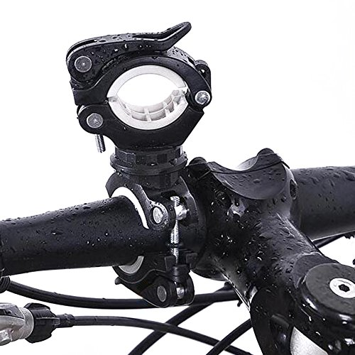 Universal Bicycle Bike LED Flashlight Torch Mount Holder 360° Rotation Cycling Clip Clamp
