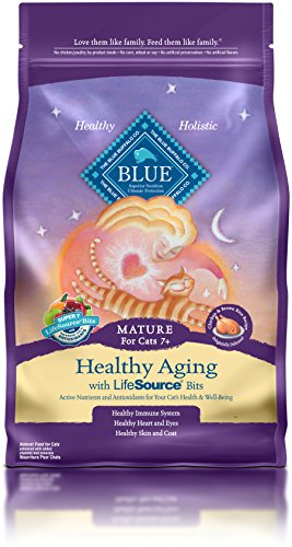 BLUE Mature Healthy Aging Chicken & Brown Rice Dry Cat Food 7-lb
