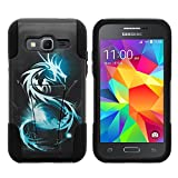 LG Sunset Case, Slim Fit Snap On Cover with Unique, Customized Design for LG Leon C40, H340N, Tribute 2, Power L22C, Destiny L21G, Sunset L33L (T Mobile, Metro PCS, Boost Mobile, Straight Talk, Tracfone) from MINITURTLE | Includes Clear Screen Protector and Stylus Pen - Black