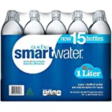 Glaceau SmartWater Water (1 L bottles, 15 pk.) (pack of 6)