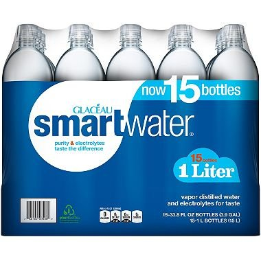 Glaceau SmartWater Water (1 L bottles, 15 pk.) (pack of 6) by Glaceau