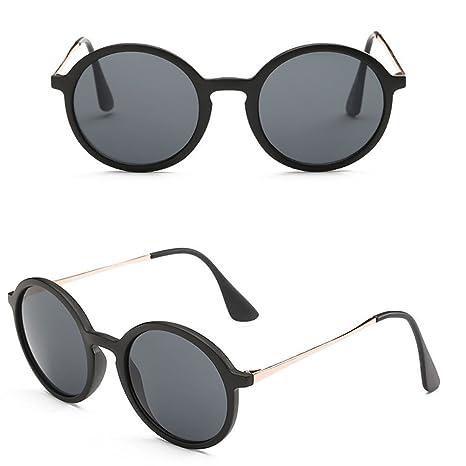 Mo Mok Classic redondo marco gafas de sol UV400 conducción ...
