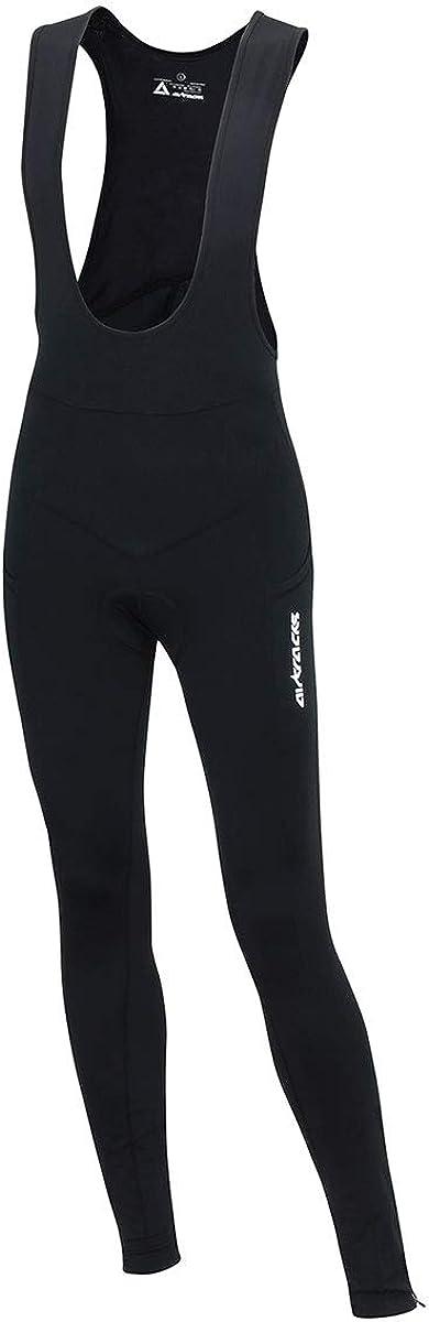 Pantaloni da ciclismo lunghi con bretelle con inserti catarifrangenti 3D Coolmax Airtracks Pro Line con bretelle caldi imbottiti traspiranti