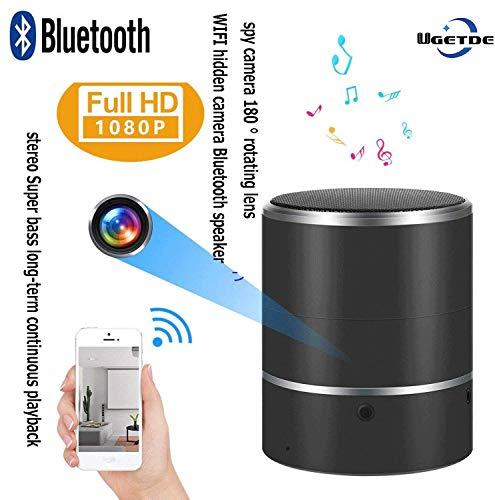 UGETDE WiFi Cámara Oculta Bluetooth Inalámbrico Altavoz Cámara Teléfono Inteligente Monitoreo en Tiempo Real, Detección...