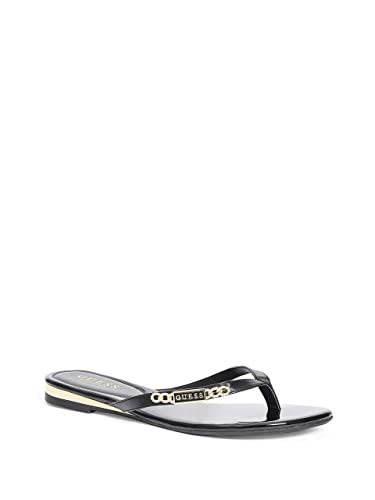 7764896cb GUESS Factory Women s Christal Flip Flops Black
