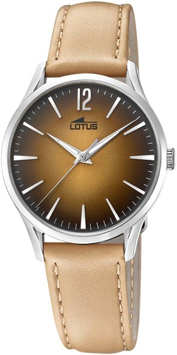 Lotus Watches Reloj Análogo clásico para Mujer de Cuarzo con Correa en Cuero 18406/3